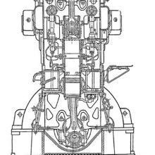 Судовой двигатель ЗД-100